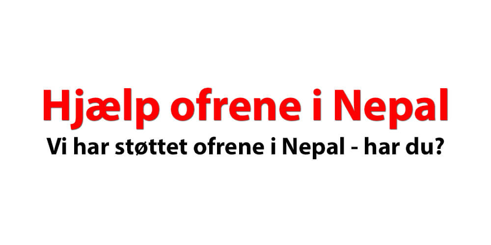 Vi har støttet ofrene i Nepal – har du?